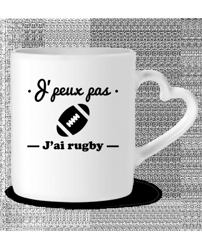 Taza Corazón J'peux pas j'ai rugby por Benichan