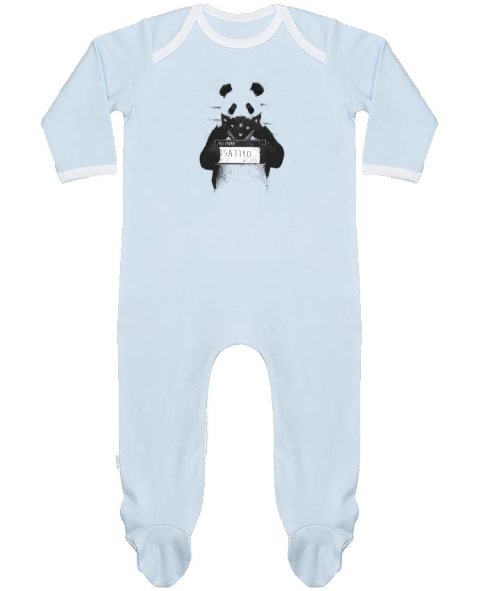 Pijama Bebé Manga Larga Contraste Bad panda por Balàzs Solti