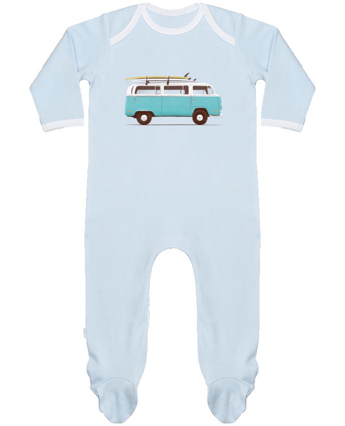 Pijama Bebé Manga Larga Contraste Blue van por Florent Bodart