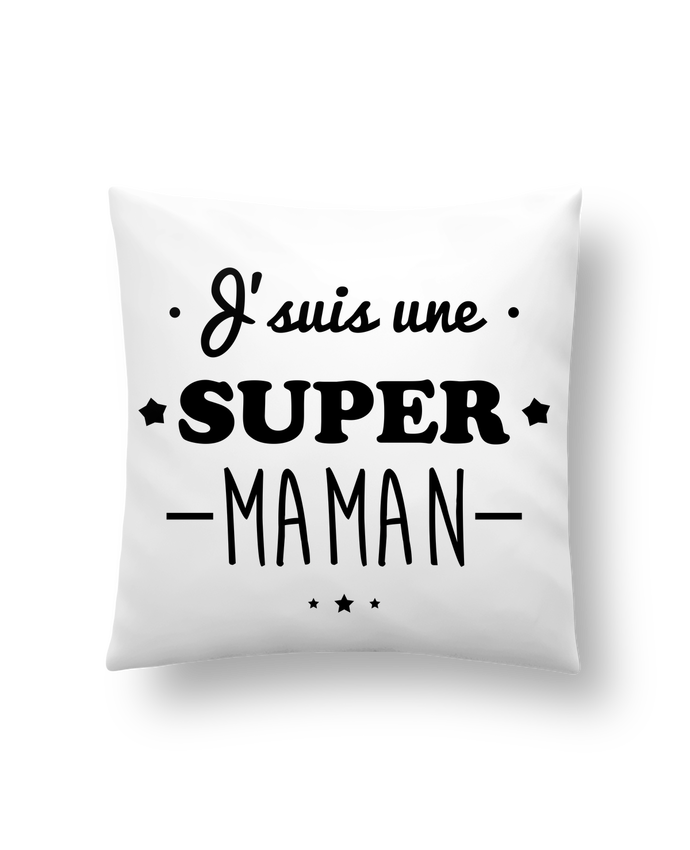 Cojín Sintético Suave 45 x 45 cm J'suis une super maman, cadeau fête des mères por Benichan