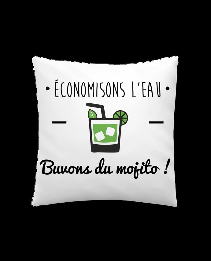 Cojín Sintético Suave 45 x 45 cm Économisons l'eau, buvons du mojito ! Humour , alcool , citations por Benichan