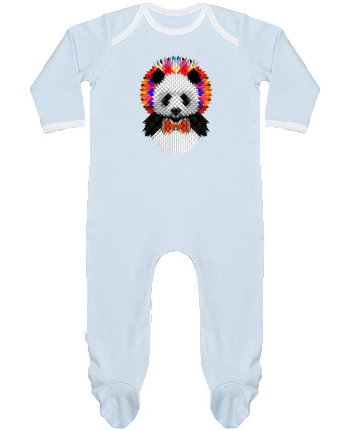 Pijama Bebé Manga Larga Contraste Panda por ali_gulec