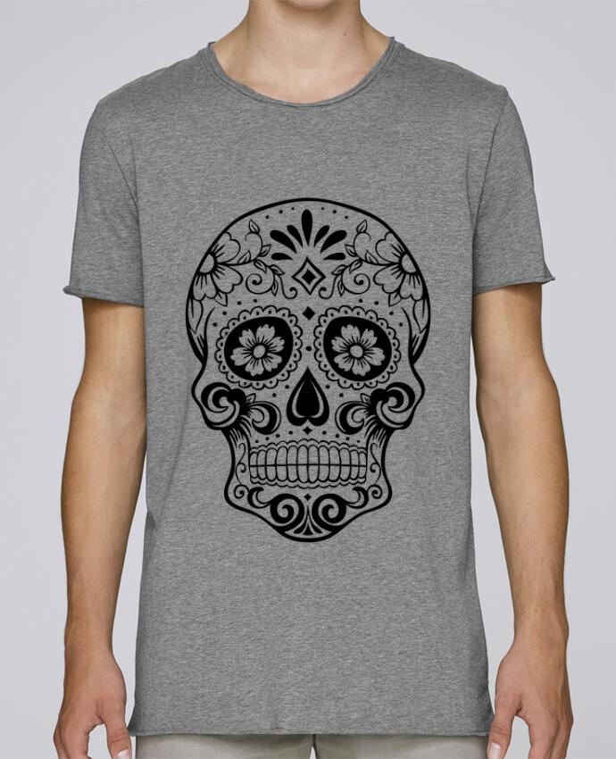Camiseta Hombre Tallas Grandes Stanly Skates Tête de Mort por Freeyourshirt.com