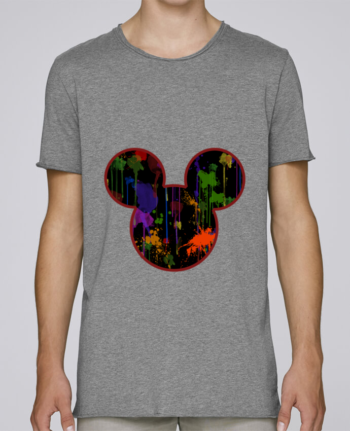 Camiseta Hombre Tallas Grandes Stanly Skates Tete de Mickey version noir por Tasca