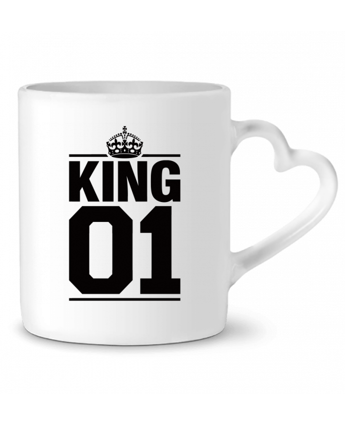 Taza Corazón King 01 por Freeyourshirt.com