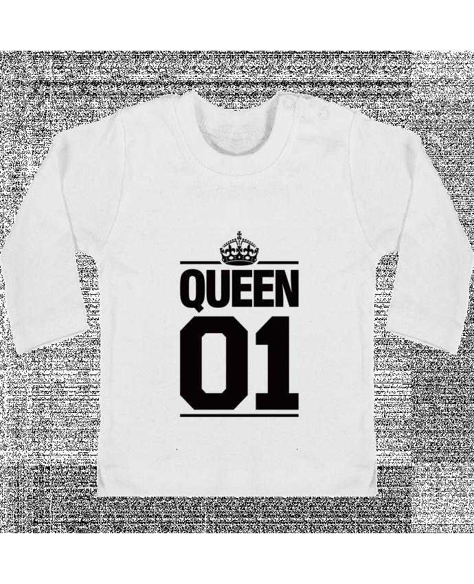 Camiseta Bebé Manga Larga con Botones  Queen 01 manches longues du designer Freeyourshirt.com