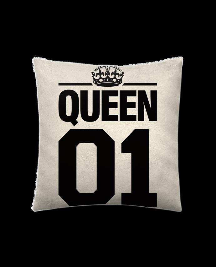 Cojín Piel de Melocotón 45 x 45 cm Queen 01 por Freeyourshirt.com