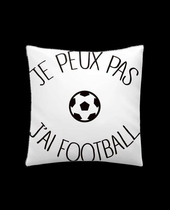 Cojín Sintético Suave 45 x 45 cm Je peux pas j'ai Football por Freeyourshirt.com