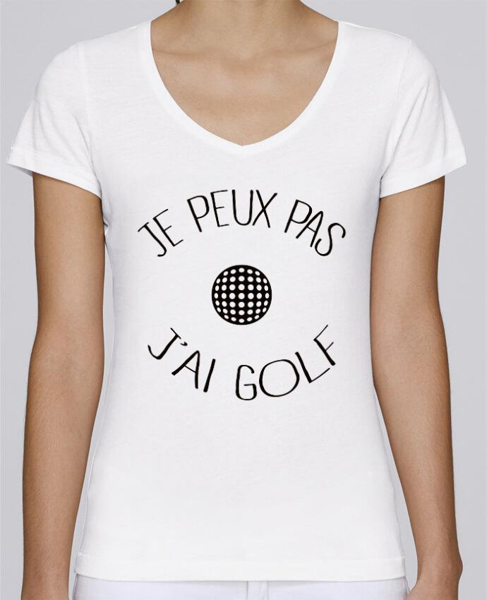 Camiseta Mujer Cuello en V Stella Chooses Je peux pas j'ai golf por Freeyourshirt.com