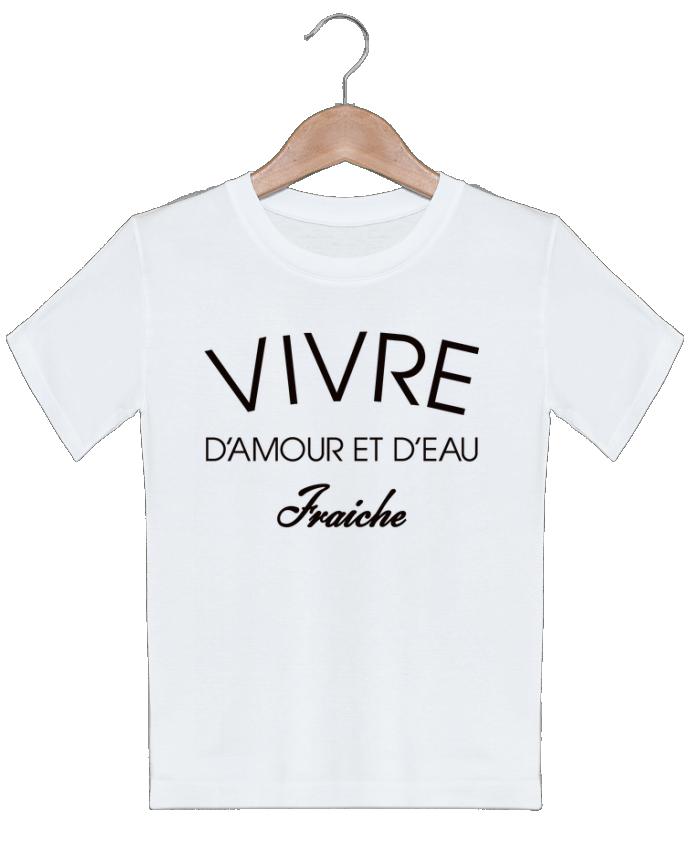 T-shirt garçon motif Vivre d'amour et d'eau fraîche Freeyourshirt.com