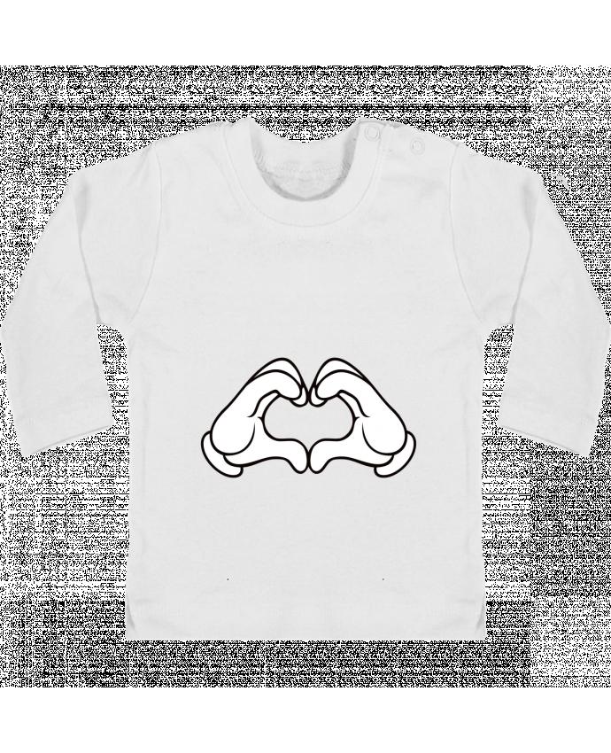 Camiseta Bebé Manga Larga con Botones  LOVE Signe manches longues du designer Freeyourshirt.com