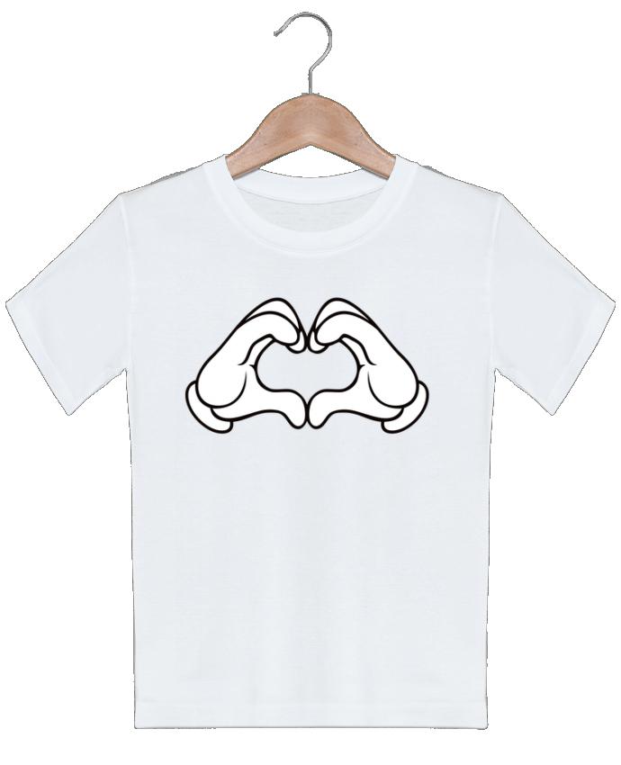 T-shirt garçon motif LOVE Signe Freeyourshirt.com