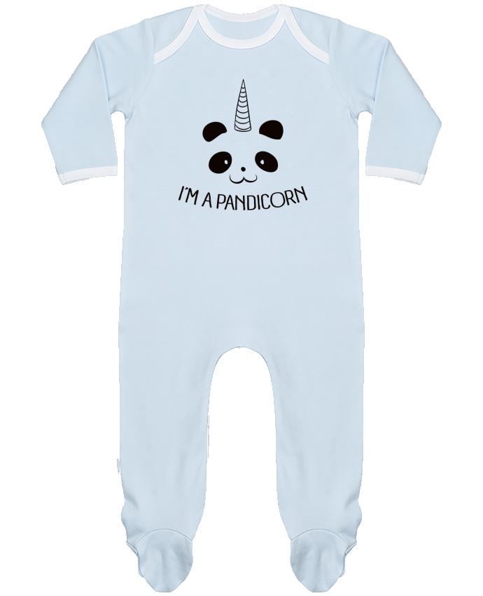 Pijama Bebé Manga Larga Contraste I'm a Pandicorn por Freeyourshirt.com