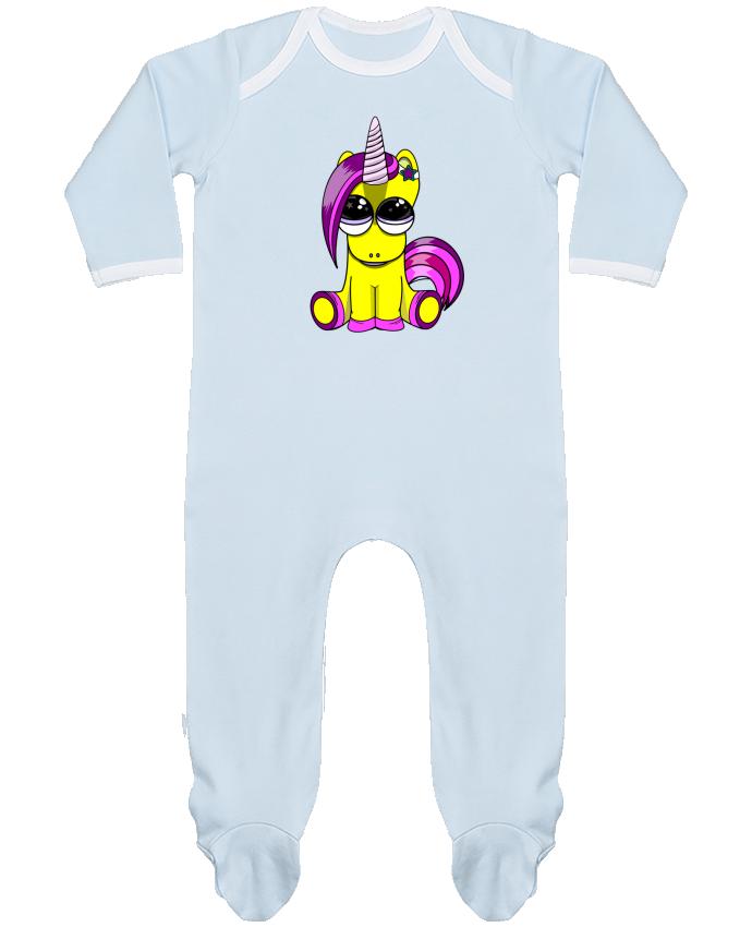Pijama Bebé Manga Larga Contraste bébé licorne por markageurbain