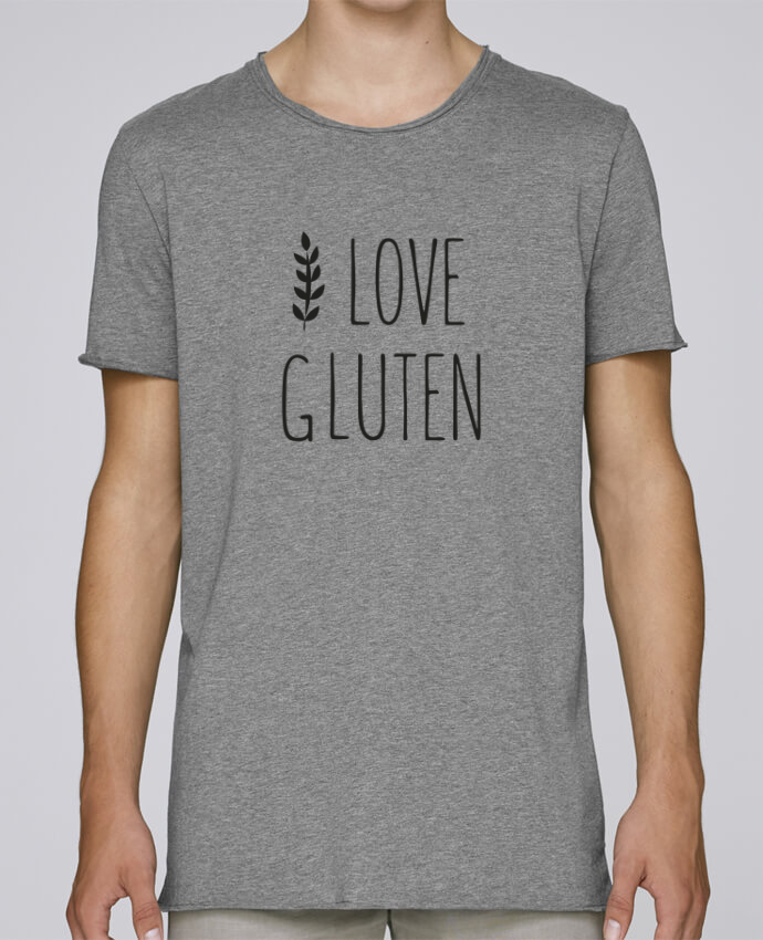 Camiseta Hombre Tallas Grandes Stanly Skates I love gluten by Ruuud por Ruuud