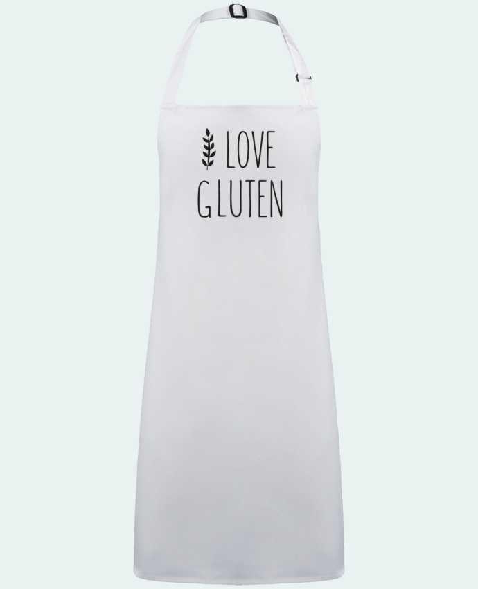 Delantal Sin Bolsillo I love gluten by Ruuud por  Ruuud