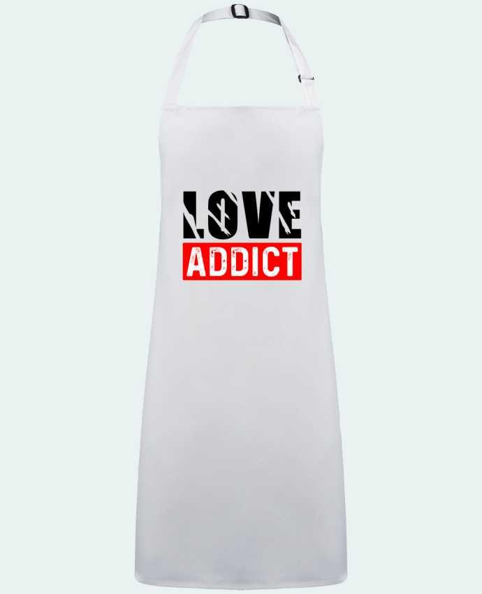 Delantal Sin Bolsillo Love Addict por  sole-tshirt