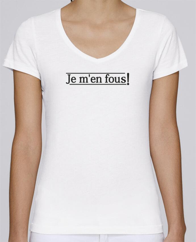 Camiseta Mujer Cuello en V Stella Chooses Je m'en fous ! por tunetoo