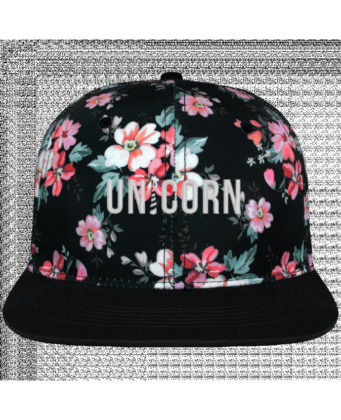 Gorra Snapback Corona Diseño Floral Negro Unicorn brodé avec toile motif à fleurs 100% polyester et visière no