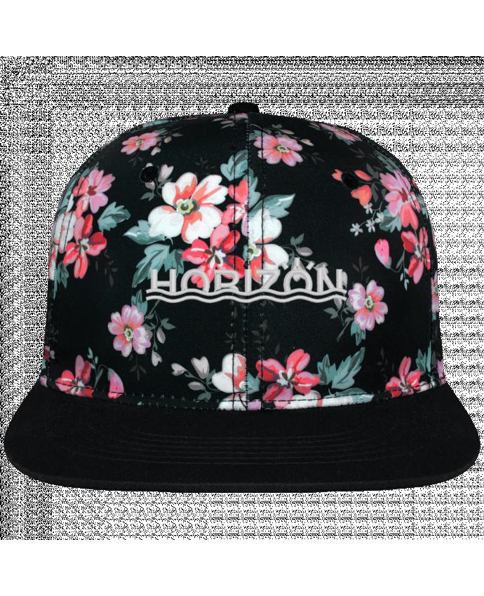 Gorra Snapback Corona Diseño Floral Negro Horizon brodé avec toile motif à fleurs 100% polyester et visière no