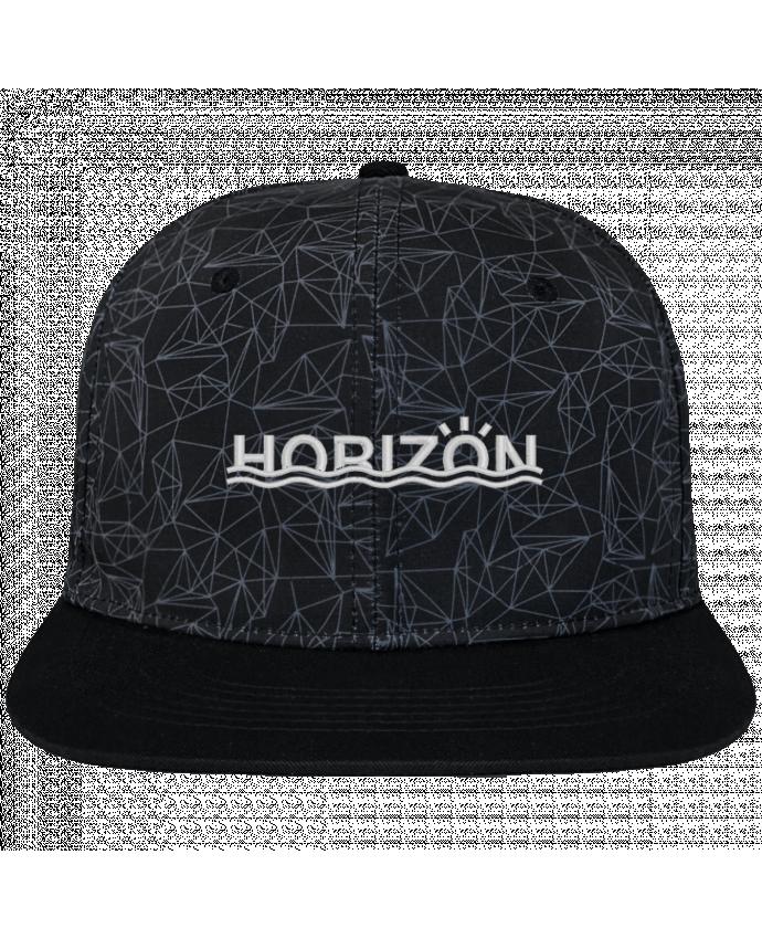 Gorra Snapback Corona Diseño Geométrico Horizon brodé avec toile imprimée et visière noire
