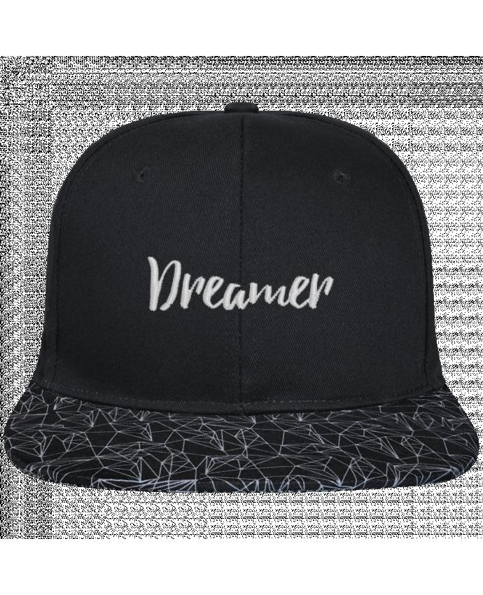 Gorra Snapback Visera Diseño Geométrico Negro Dreamer brodé avec toile noire 100% coton et visière imprimée 100