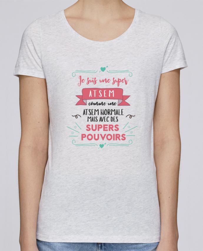 Camiseta Mujer Stellla Loves Je suis une super ATSEM por tunetoo