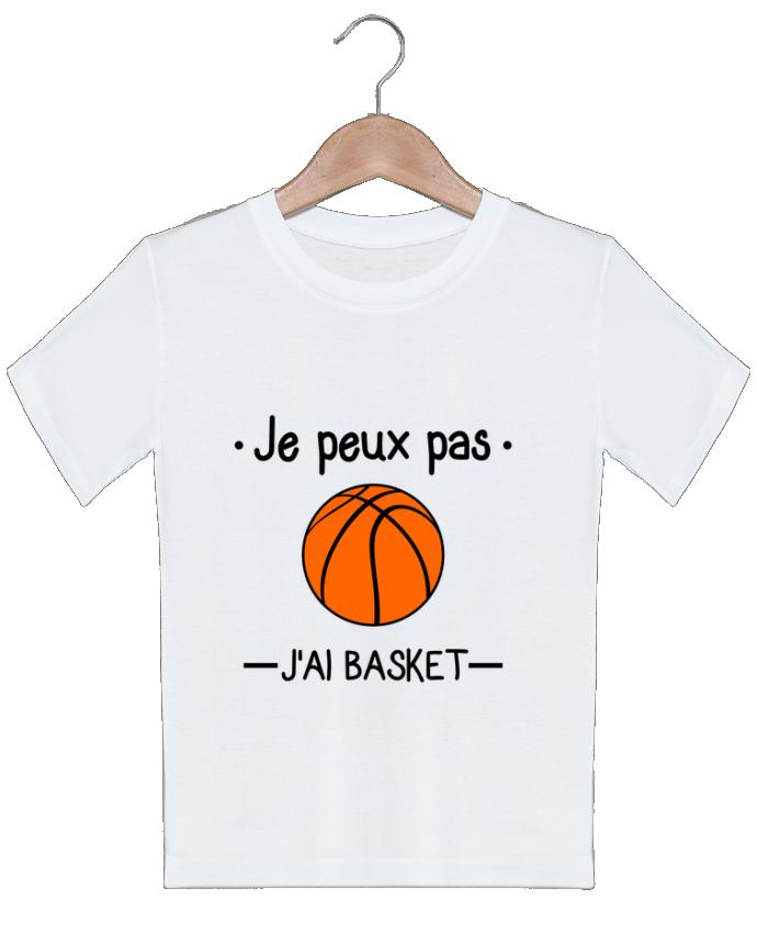 T-shirt garçon motif Je peux pas j'ai basket,basketball,basket-ball Benichan