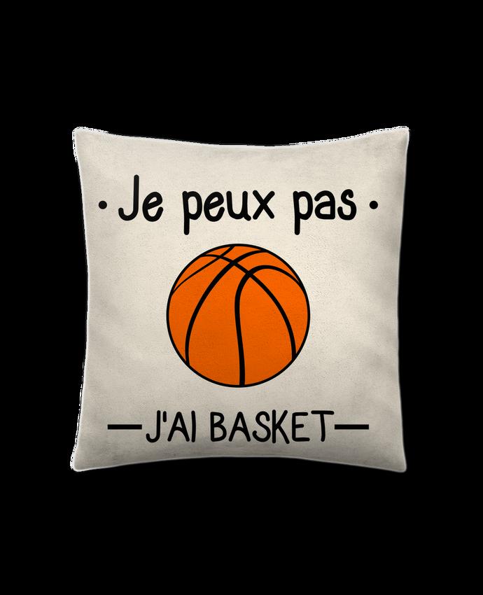 Cojín Piel de Melocotón 45 x 45 cm Je peux pas j'ai basket,basketball,basket-ball por Benichan