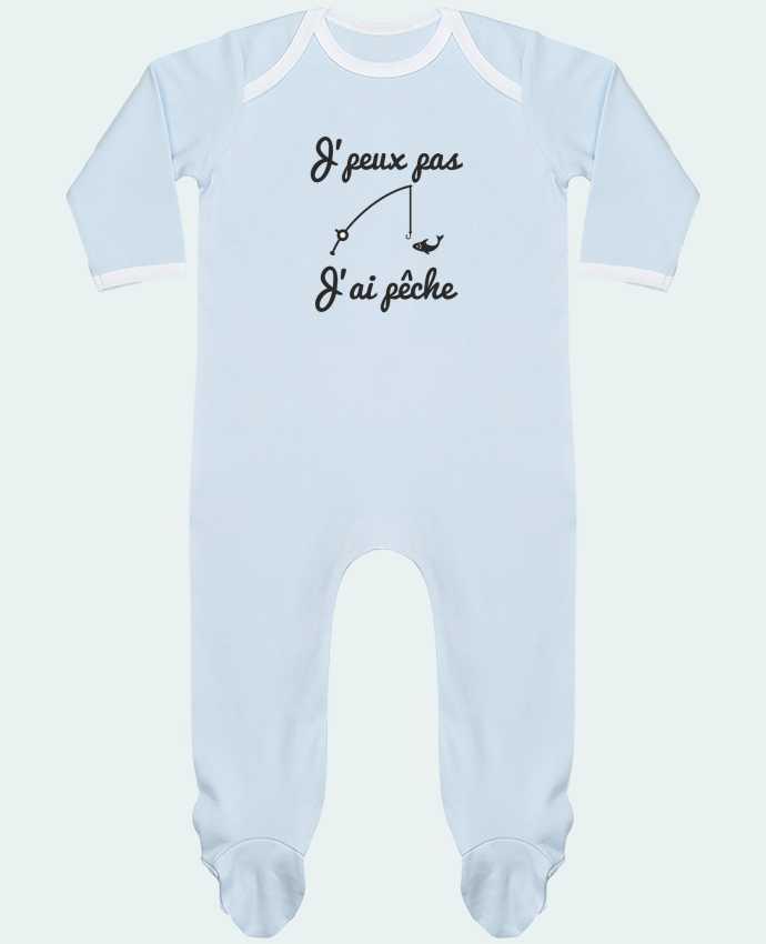 Pijama Bebé Manga Larga Contraste J'peux pas j'ai pêche,tee shirt pécheur,pêcheur por Benichan