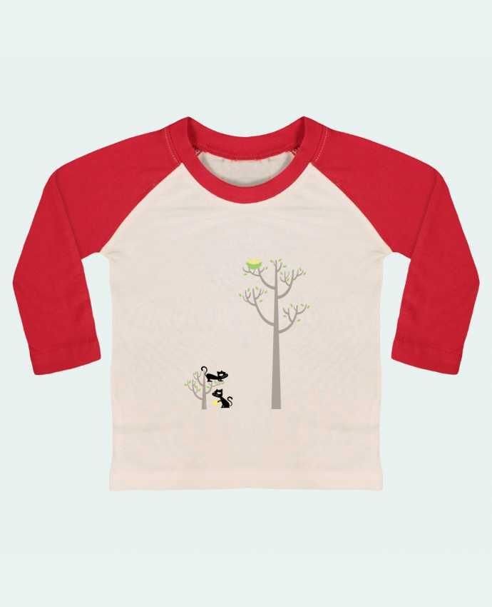 Camiseta Bebé Béisbol Manga Larga Growing a plant for Lunch por flyingmouse365
