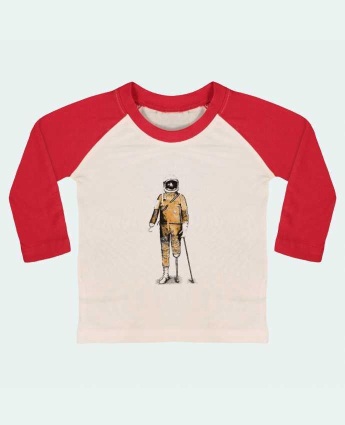 Camiseta Bebé Béisbol Manga Larga Astropirate por Florent Bodart