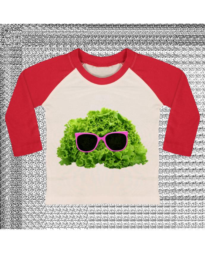 Camiseta Bebé Béisbol Manga Larga Mr Salad por Florent Bodart