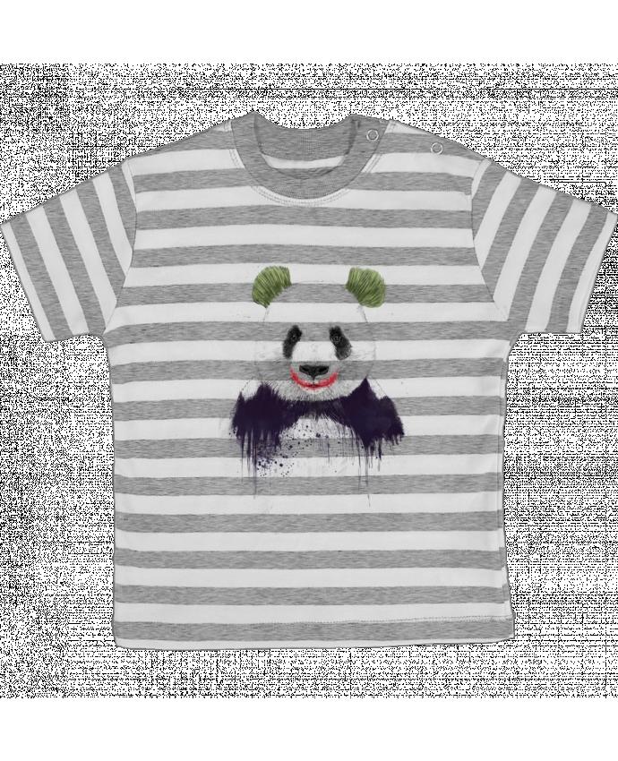 Camiseta Bebé a Rayas Jokerface por Balàzs Solti