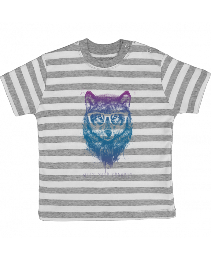 Camiseta Bebé a Rayas whos_your_granny por Balàzs Solti