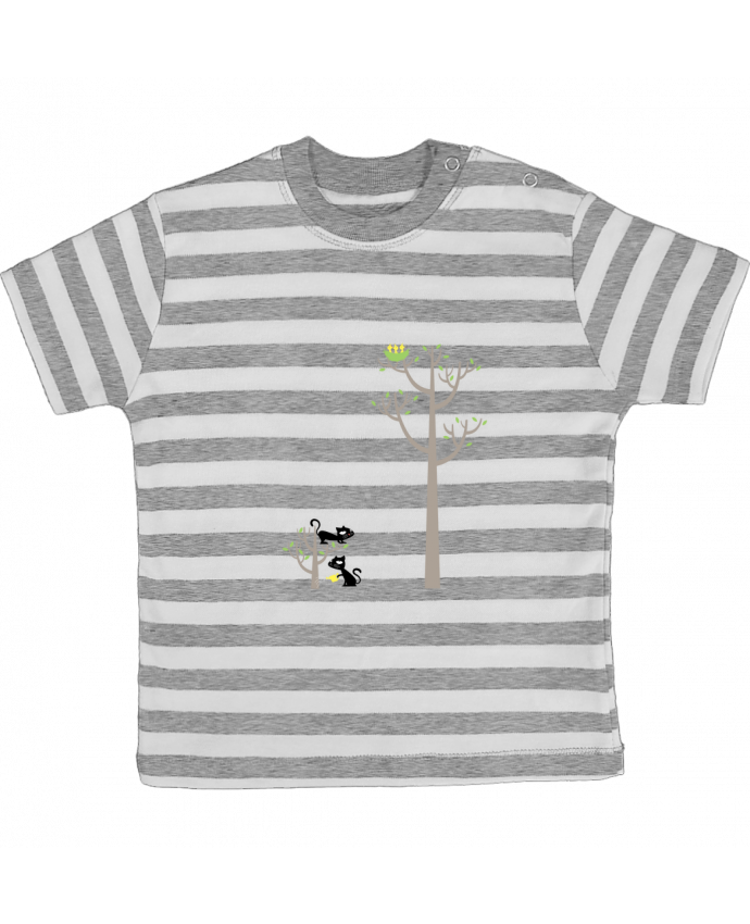 Camiseta Bebé a Rayas Growing a plant for Lunch por flyingmouse365