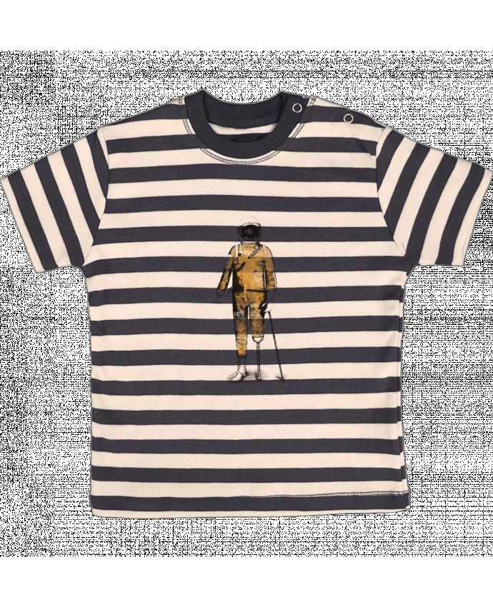 Camiseta Bebé a Rayas Astropirate por Florent Bodart