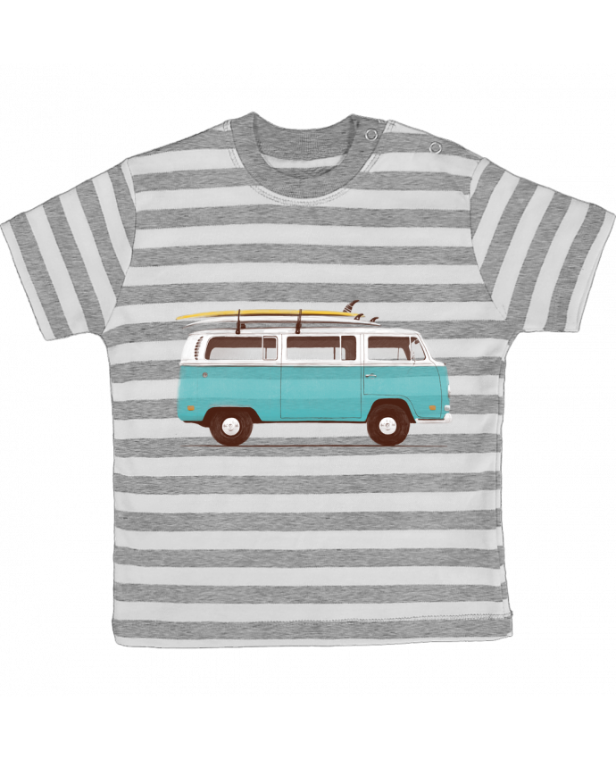 Camiseta Bebé a Rayas Blue van por Florent Bodart