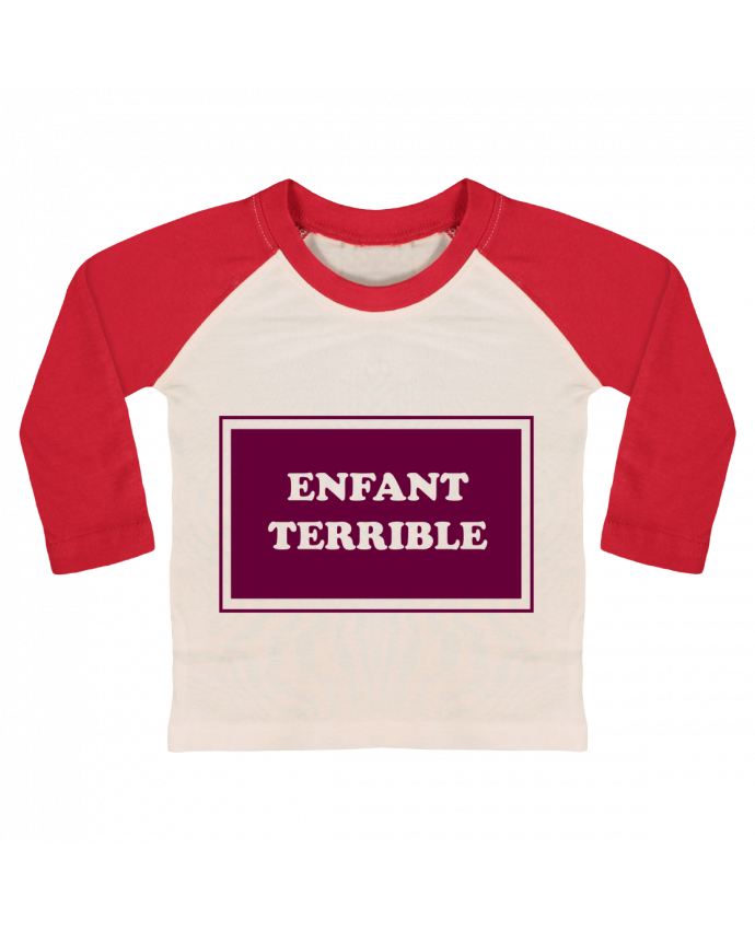 Camiseta Bebé Béisbol Manga Larga Enfant terrible por tunetoo