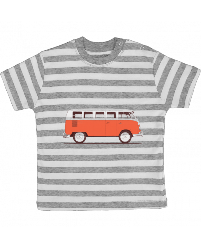 Camiseta Bebé a Rayas Red Van por Florent Bodart