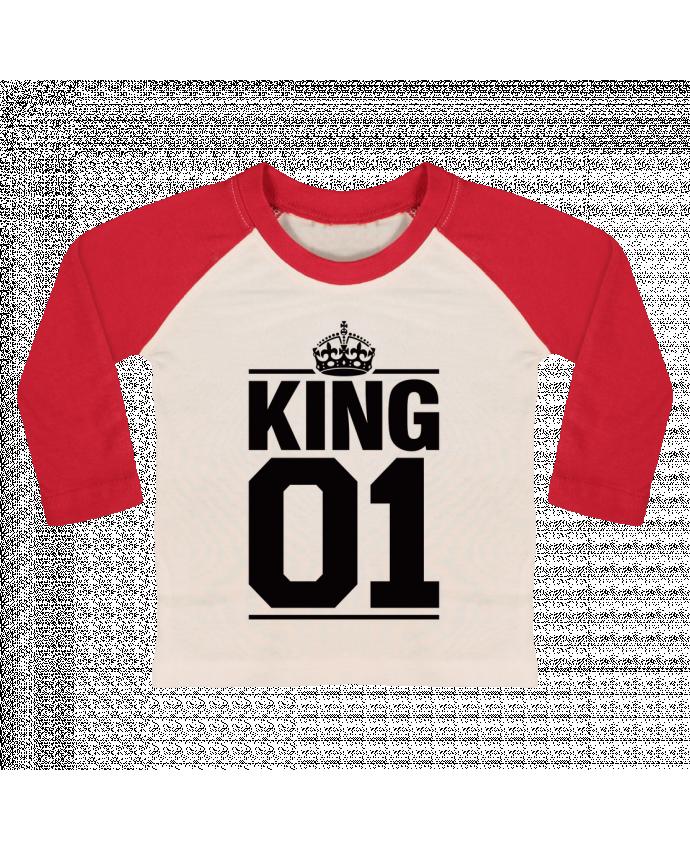 Camiseta Bebé Béisbol Manga Larga King 01 por Freeyourshirt.com