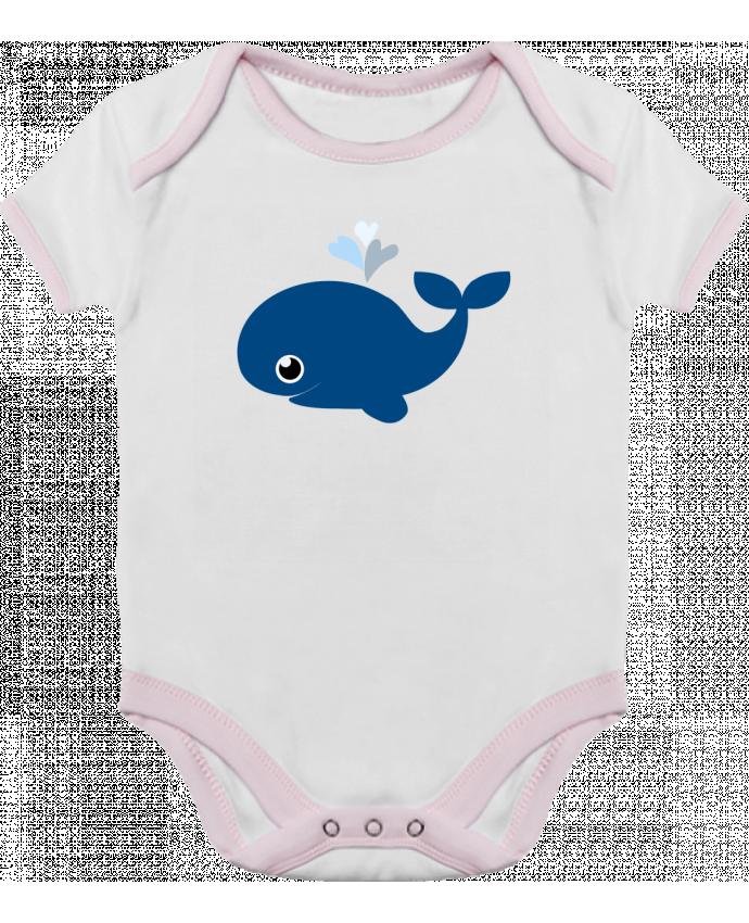 Body Bebé Contraste Baleine coeur por WBang