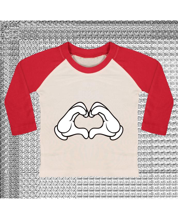 Camiseta Bebé Béisbol Manga Larga LOVE Signe por Freeyourshirt.com
