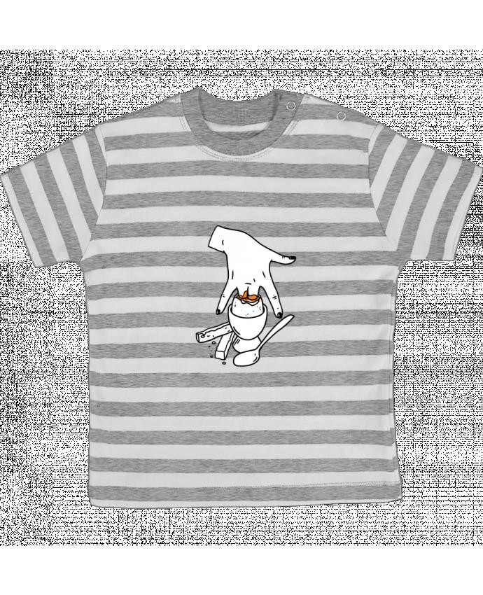 Camiseta Bebé a Rayas Super mouillette ou qui viole un oeuf viole un boeuf por tattooanshort