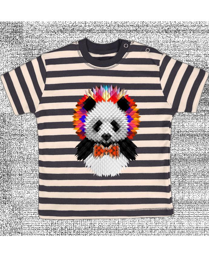 Camiseta Bebé a Rayas Panda por ali_gulec
