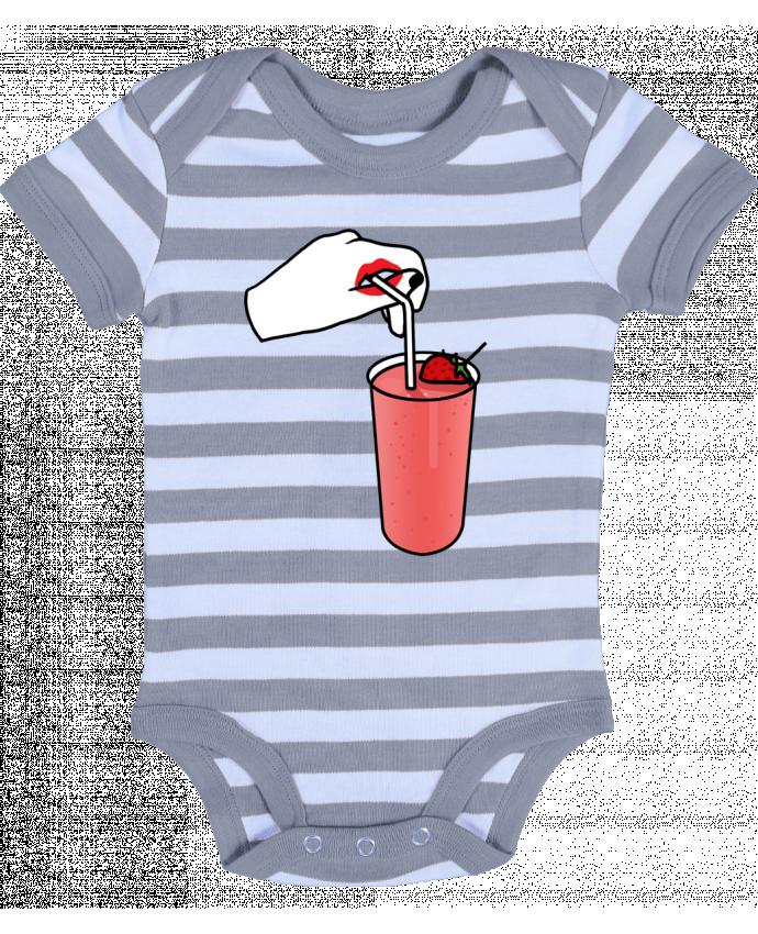 Body Bebé a Rayas Milk shake - tattooanshort