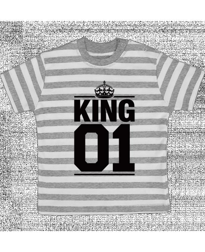 Camiseta Bebé a Rayas King 01 por Freeyourshirt.com