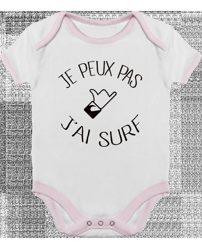 Body Bebé Contraste Je peux pas j'ai surf por Freeyourshirt.com