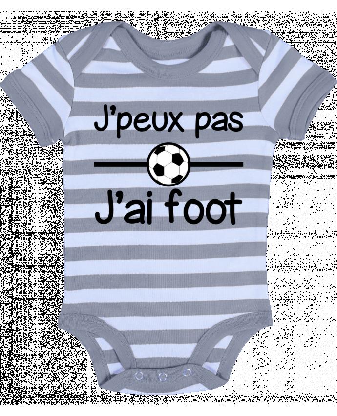 Body Bebé a Rayas J'peux pas j'ai foot , football - Benichan