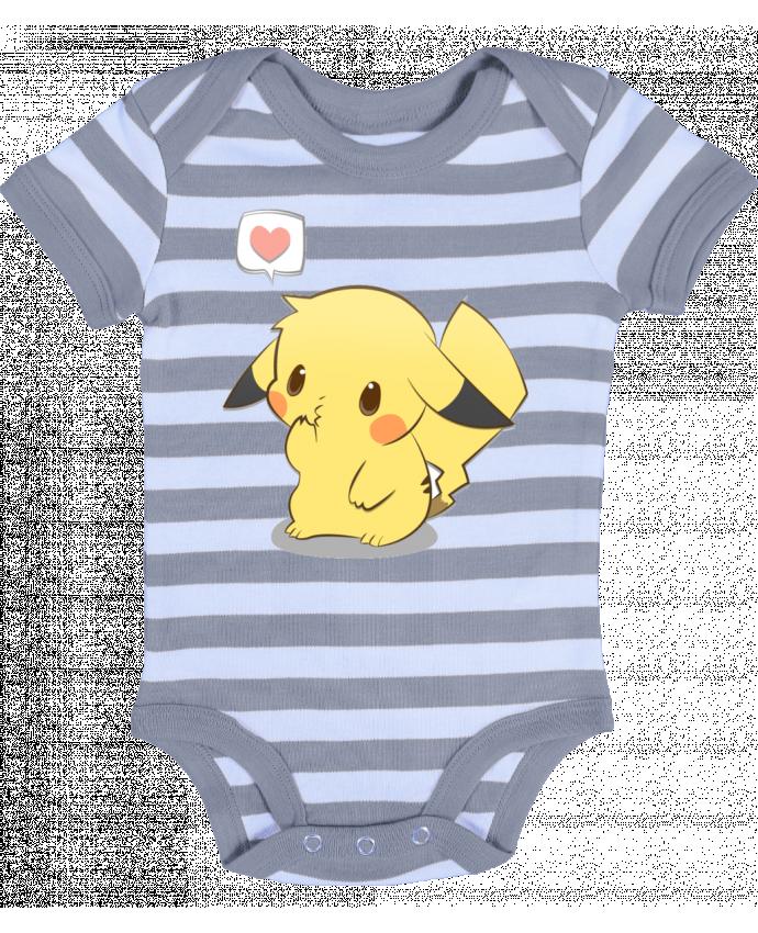 Body Bebé a Rayas Pikachu Love - Ketsøu